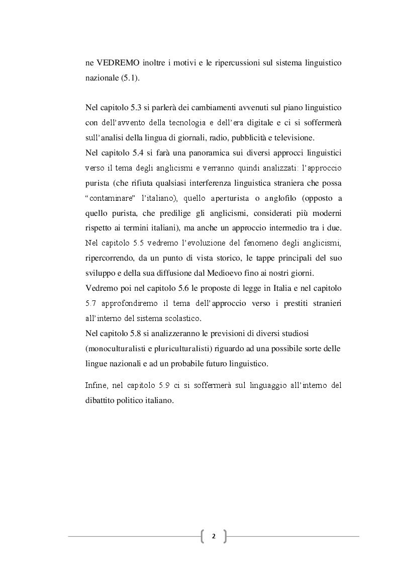 Anteprima della tesi: Gli anglicismi nella lingua italiana, Pagina 3