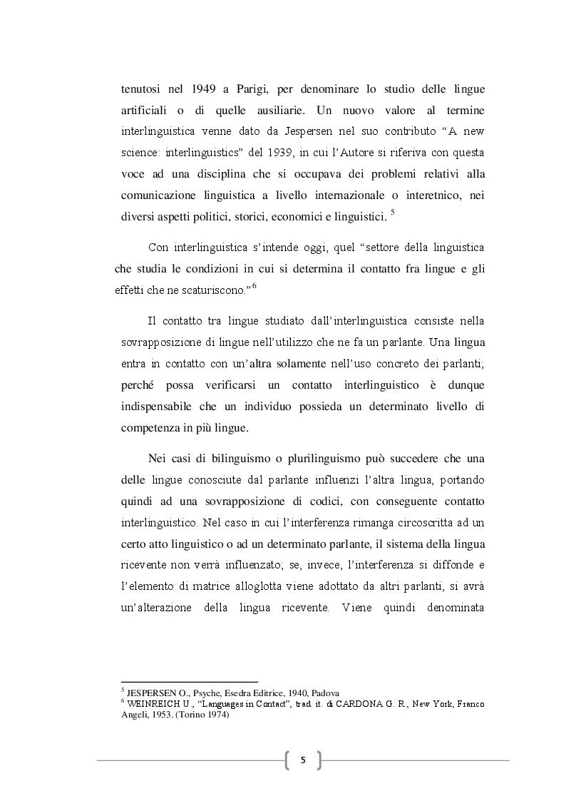 Anteprima della tesi: Gli anglicismi nella lingua italiana, Pagina 6