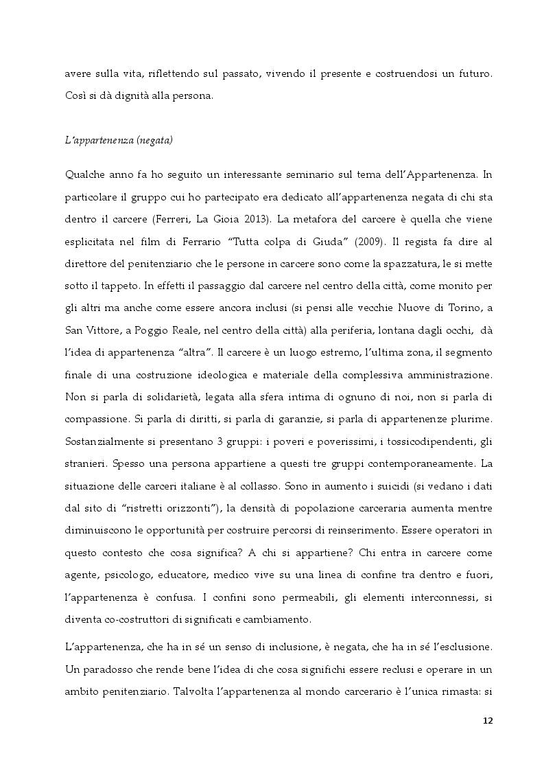Estratto dalla tesi: L'intervento in ambito penitenziario: una sfida per il terapeuta sistemico relazionale