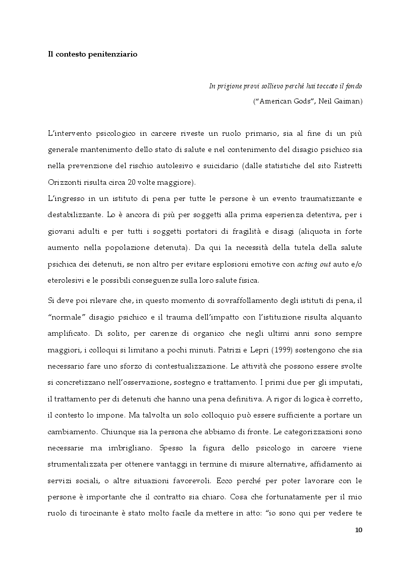 Anteprima della tesi: L'intervento in ambito penitenziario: una sfida per il terapeuta sistemico relazionale, Pagina 2
