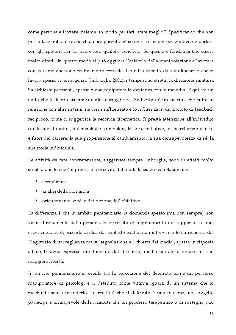 Anteprima della tesi: L'intervento in ambito penitenziario: una sfida per il terapeuta sistemico relazionale, Pagina 3