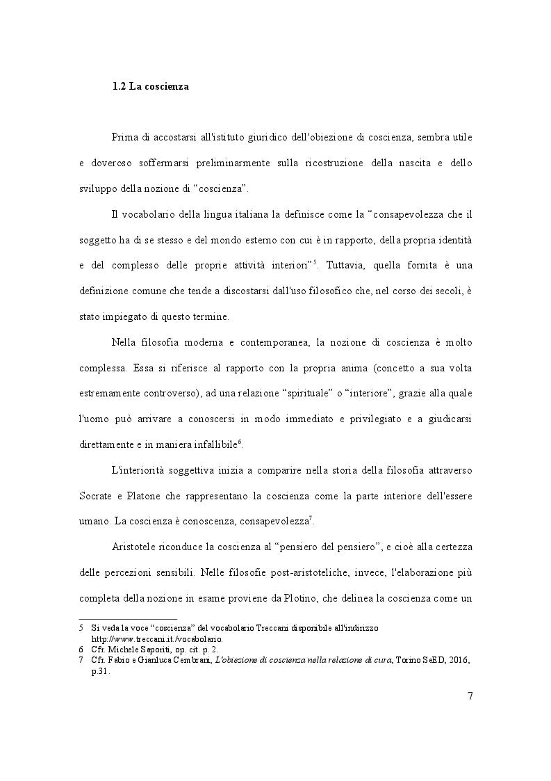 Anteprima della tesi: Dalla leva militare all'aborto. Profili teorici e problemi applicativi del diritto l'obiezione di coscienza, Pagina 8