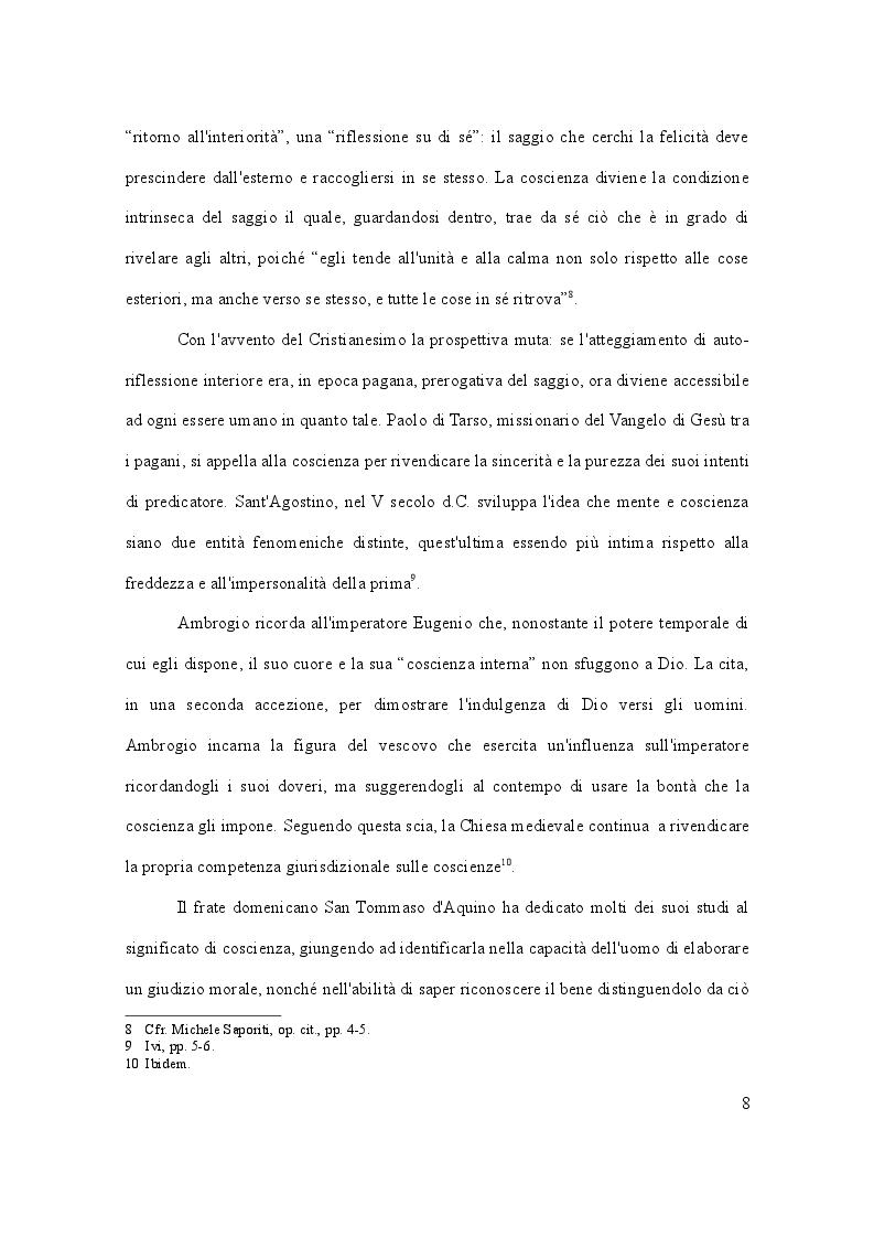 Anteprima della tesi: Dalla leva militare all'aborto. Profili teorici e problemi applicativi del diritto l'obiezione di coscienza, Pagina 9