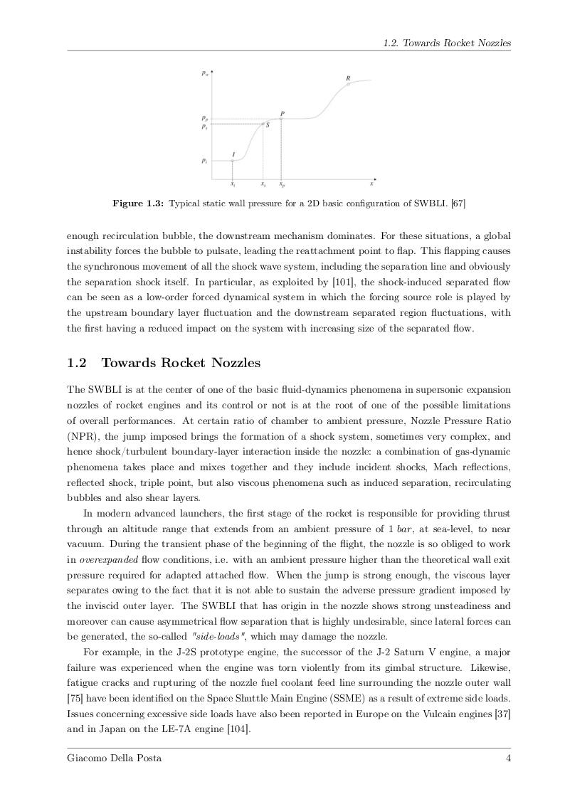 Anteprima della tesi: Detached-Eddy Simulation of Shock Wave/Boundary-Layer Interactions in a Planar Transonic Nozzle, Pagina 5