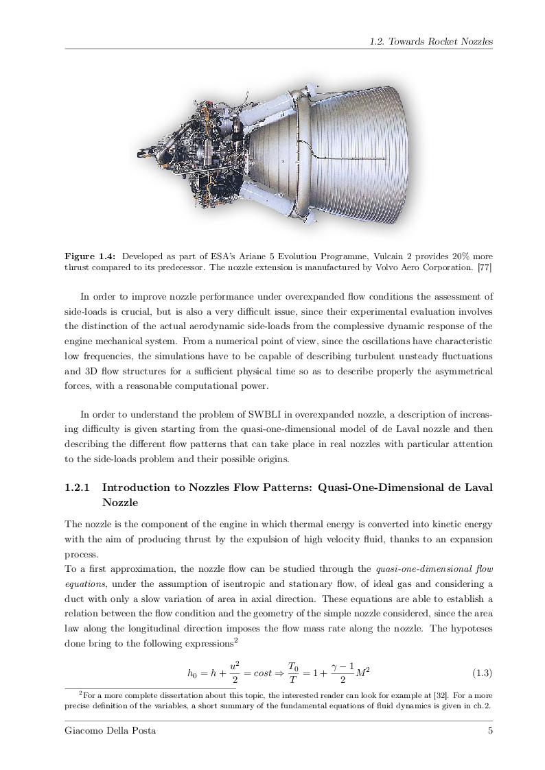 Anteprima della tesi: Detached-Eddy Simulation of Shock Wave/Boundary-Layer Interactions in a Planar Transonic Nozzle, Pagina 6
