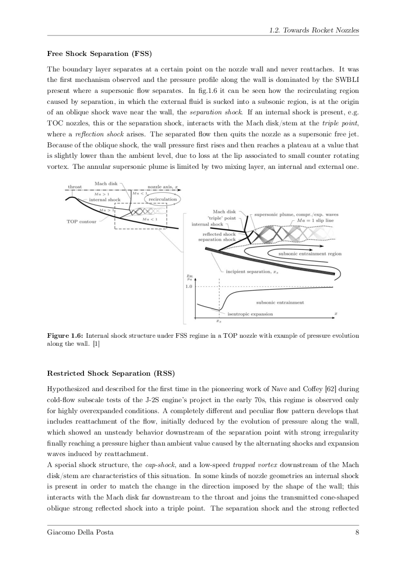 Anteprima della tesi: Detached-Eddy Simulation of Shock Wave/Boundary-Layer Interactions in a Planar Transonic Nozzle, Pagina 9