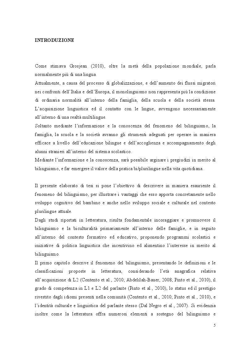 Anteprima della tesi: Crescere bilingui: i vantaggi del bilinguismo tra pregiudizi e strategie educative, Pagina 2