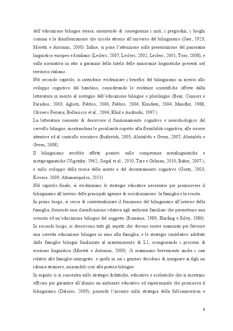 Anteprima della tesi: Crescere bilingui: i vantaggi del bilinguismo tra pregiudizi e strategie educative, Pagina 3