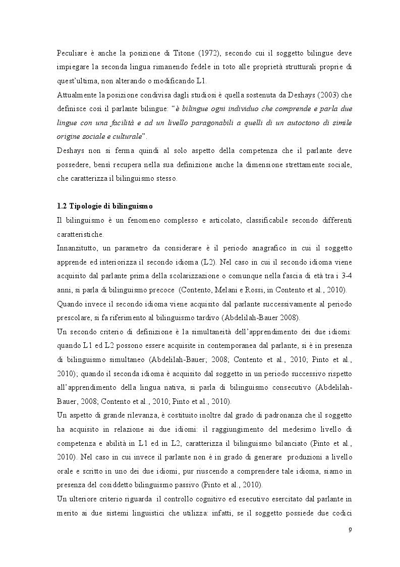 Anteprima della tesi: Crescere bilingui: i vantaggi del bilinguismo tra pregiudizi e strategie educative, Pagina 6