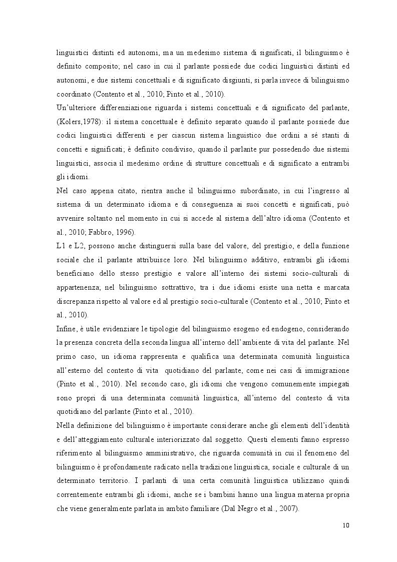 Anteprima della tesi: Crescere bilingui: i vantaggi del bilinguismo tra pregiudizi e strategie educative, Pagina 7