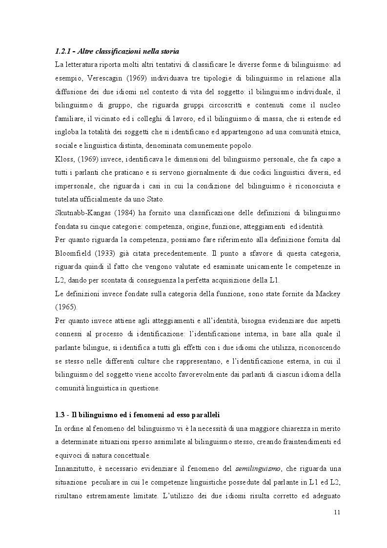 Anteprima della tesi: Crescere bilingui: i vantaggi del bilinguismo tra pregiudizi e strategie educative, Pagina 8