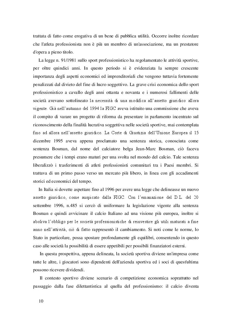 Estratto dalla tesi: L'ambiente nelle strategie aziendali: gli effetti del Financial Fair Play