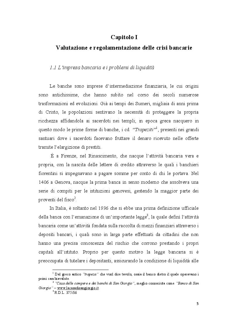 Anteprima della tesi: Le crisi bancarie in Italia - Il caso Monte dei Paschi di Siena, Pagina 5