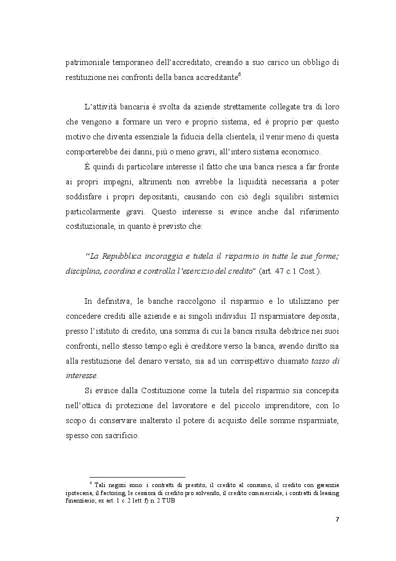 Anteprima della tesi: Le crisi bancarie in Italia - Il caso Monte dei Paschi di Siena, Pagina 7