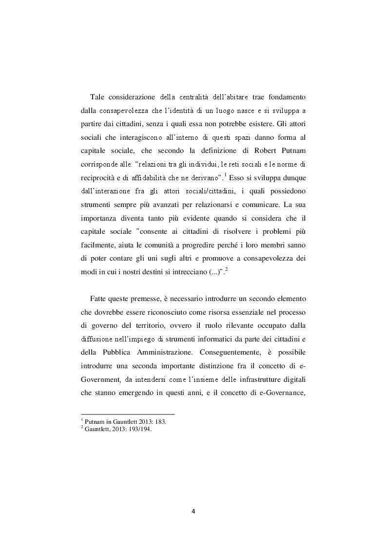 Anteprima della tesi: La nuova governance digitale. Come cambiano le politiche territoriali nell'era del web 2.0., Pagina 3