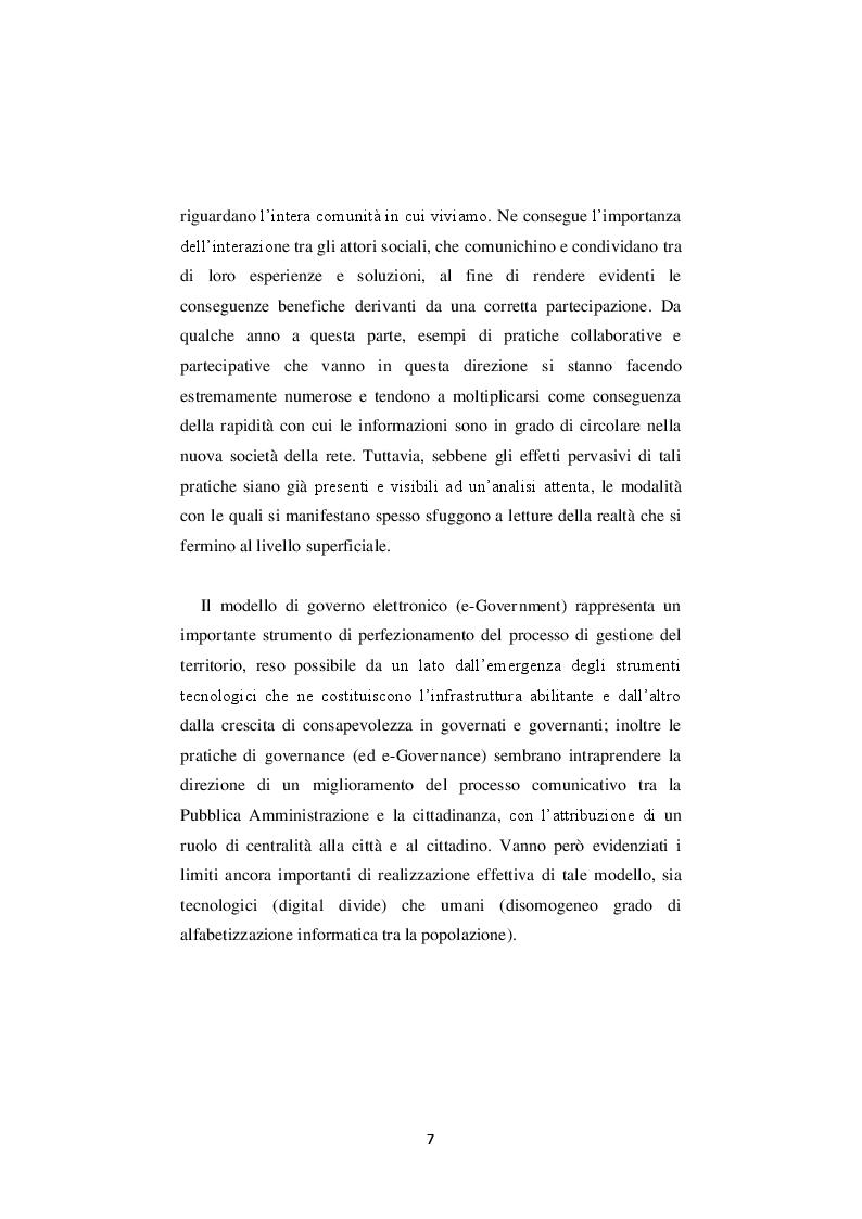 Anteprima della tesi: La nuova governance digitale. Come cambiano le politiche territoriali nell'era del web 2.0., Pagina 6
