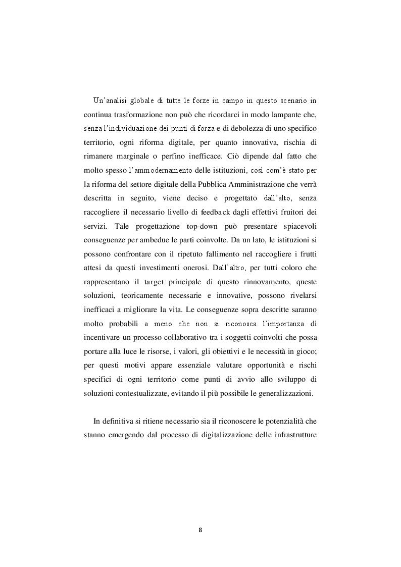 Anteprima della tesi: La nuova governance digitale. Come cambiano le politiche territoriali nell'era del web 2.0., Pagina 7