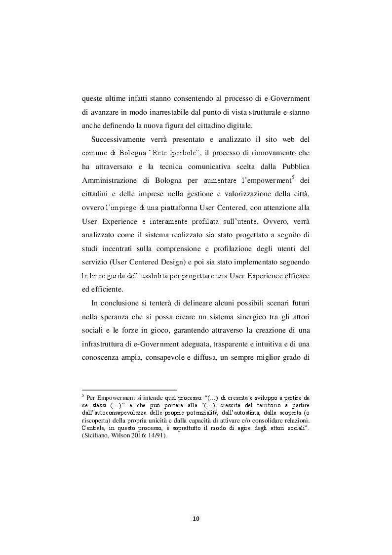 Anteprima della tesi: La nuova governance digitale. Come cambiano le politiche territoriali nell'era del web 2.0., Pagina 9