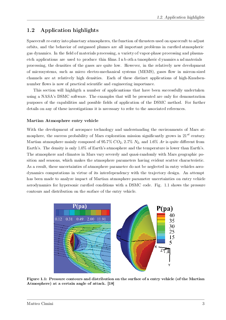 Anteprima della tesi: Numerical Simulations of Rarefied Gas Flow with ''Direct Simulation Monte Carlo'' Method, Pagina 2