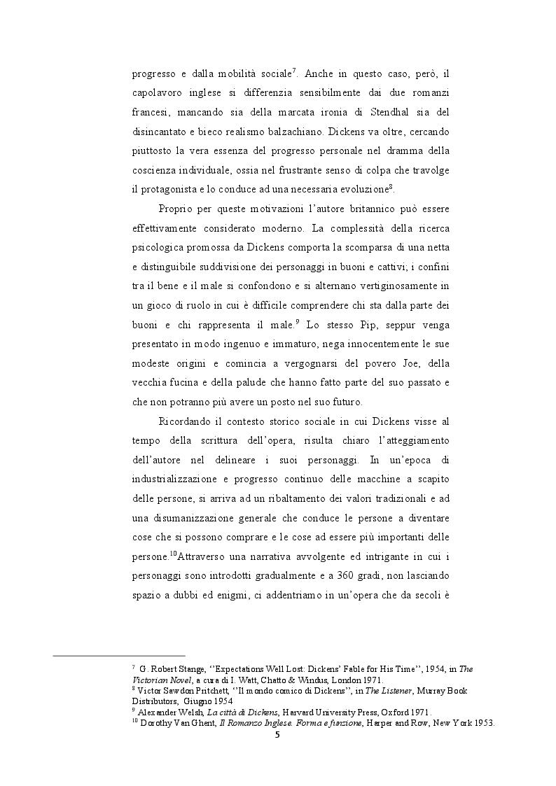 """Anteprima della tesi: Le riscritture del romanzo di """"Dickens Grandi Speranze: Mister Pip e Jack Maggs"""", Pagina 5"""