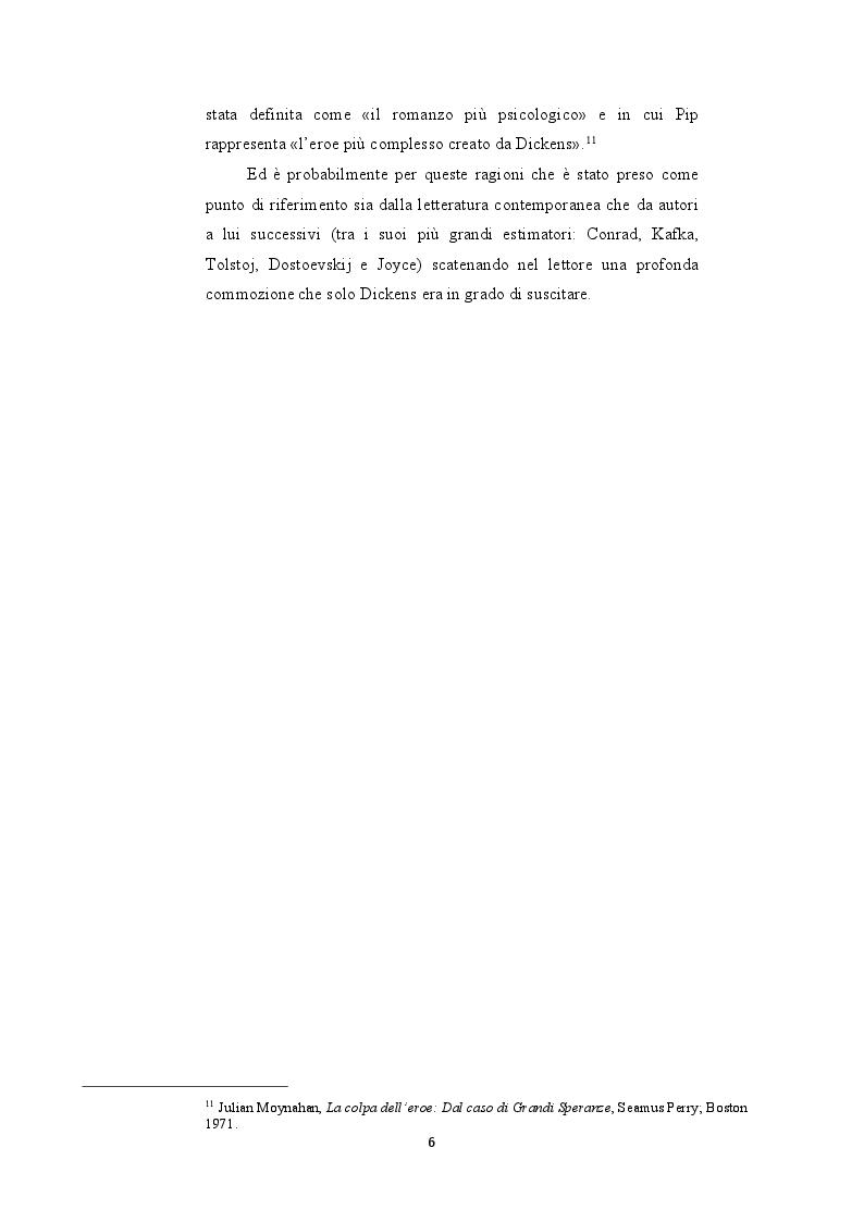 """Anteprima della tesi: Le riscritture del romanzo di """"Dickens Grandi Speranze: Mister Pip e Jack Maggs"""", Pagina 6"""