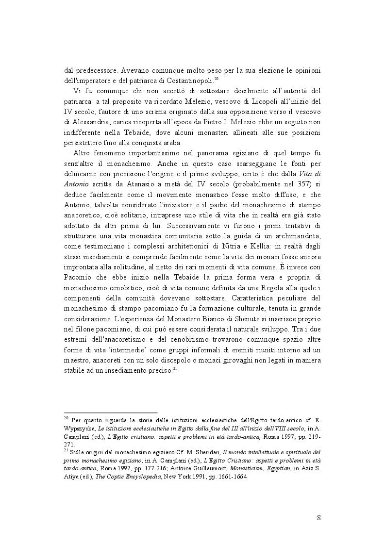 Anteprima della tesi: La demonologia di Shenute, Pagina 8