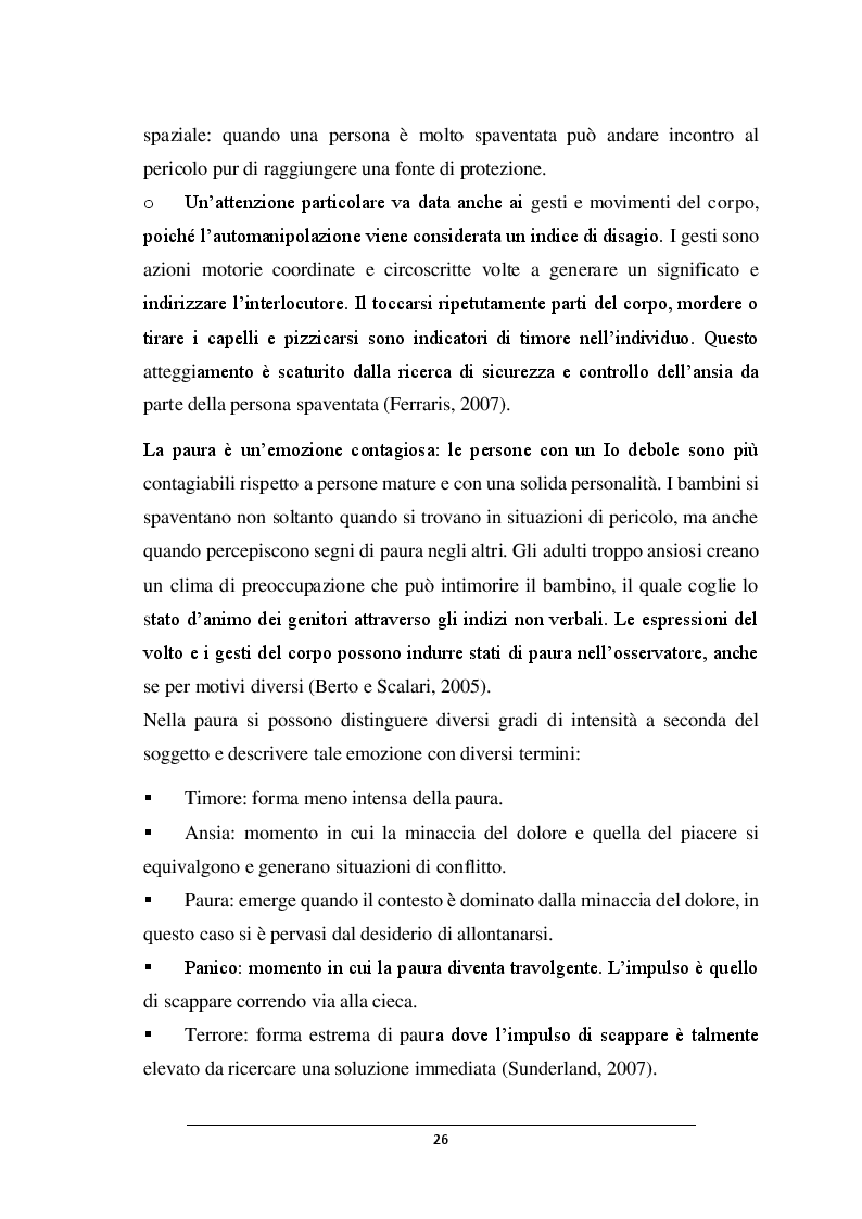 Anteprima della tesi: POSSO AVERE PAURA. Percorso didattico nella scuola dell'infanzia, Pagina 5