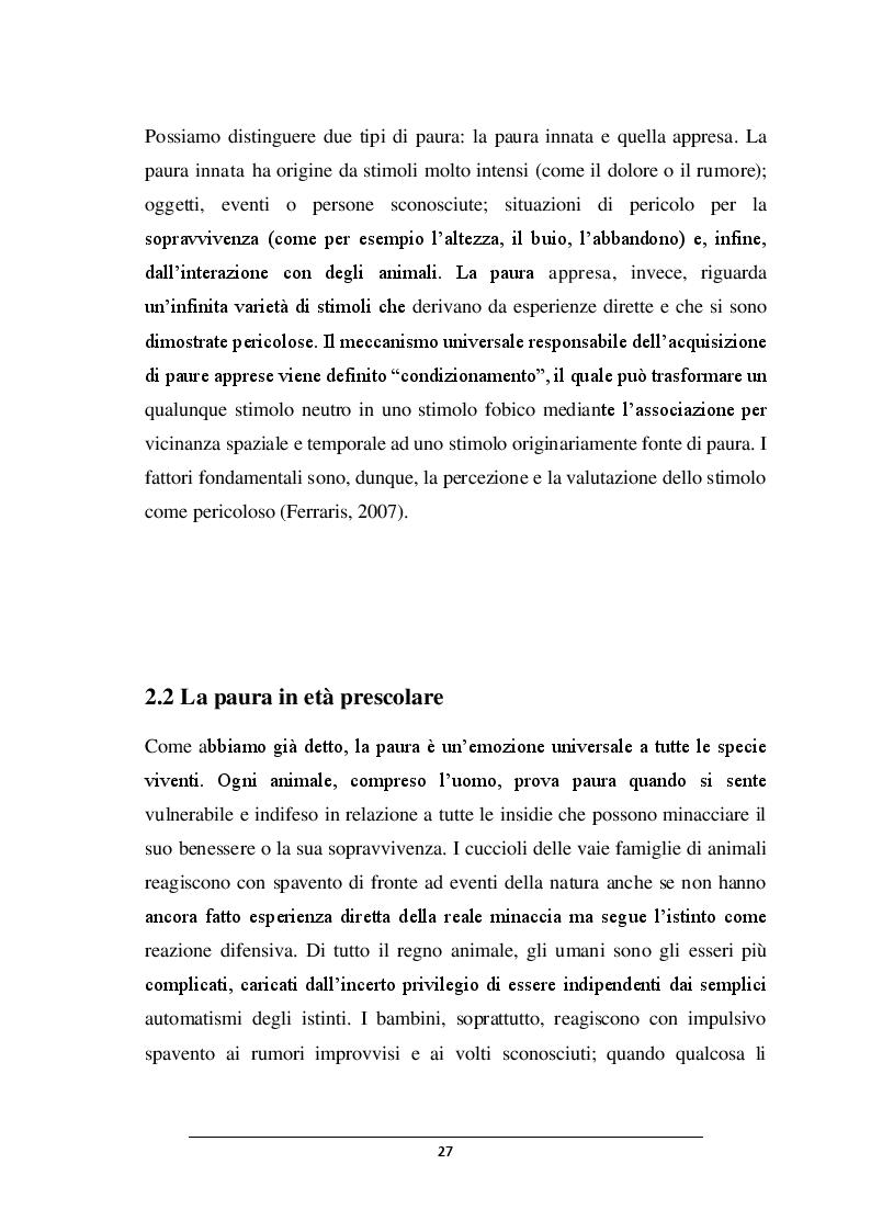 Anteprima della tesi: POSSO AVERE PAURA. Percorso didattico nella scuola dell'infanzia, Pagina 6