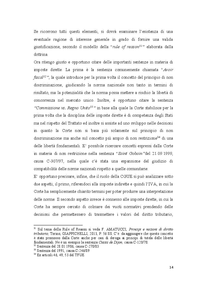 Estratto dalla tesi: Coordinamento ed armonizzazione dell'imposizione societaria in seno all'Unione Europea