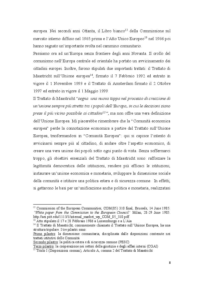 Anteprima della tesi: Coordinamento ed armonizzazione dell'imposizione societaria in seno all'Unione Europea, Pagina 6