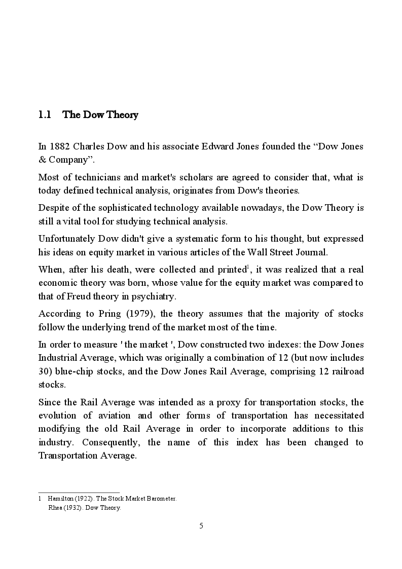 Anteprima della tesi: How to build a trading system: theory and implementation, Pagina 7