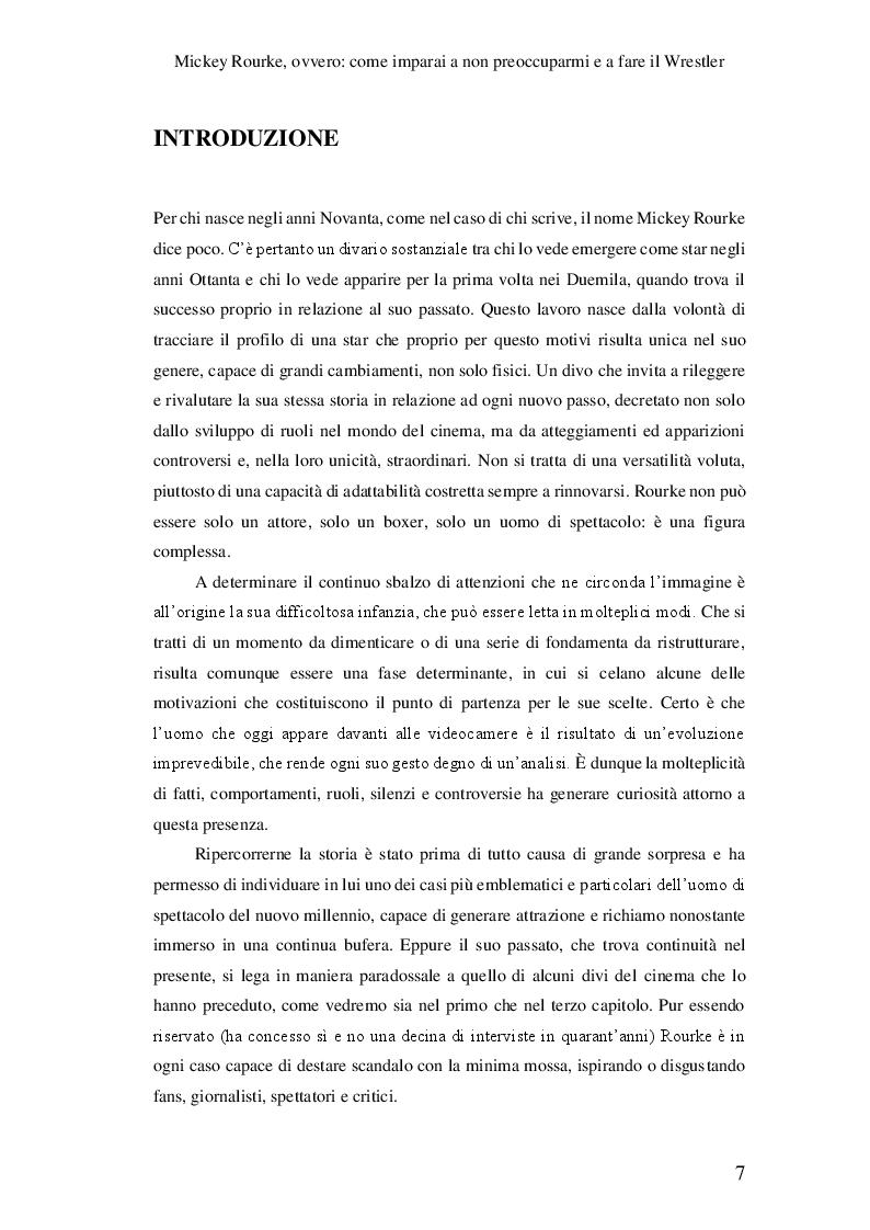 Anteprima della tesi: Mickey Rourke, ovvero: come imparai a non preoccuparmi e a fare il Wrestler, Pagina 2