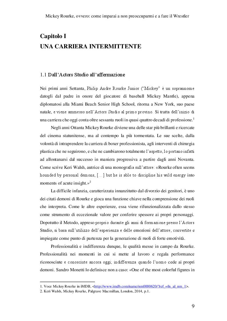 Anteprima della tesi: Mickey Rourke, ovvero: come imparai a non preoccuparmi e a fare il Wrestler, Pagina 4