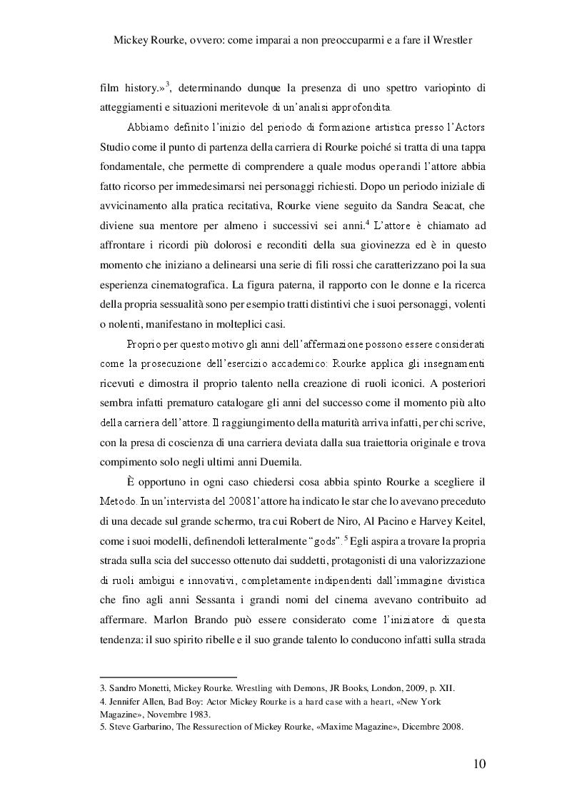Anteprima della tesi: Mickey Rourke, ovvero: come imparai a non preoccuparmi e a fare il Wrestler, Pagina 5