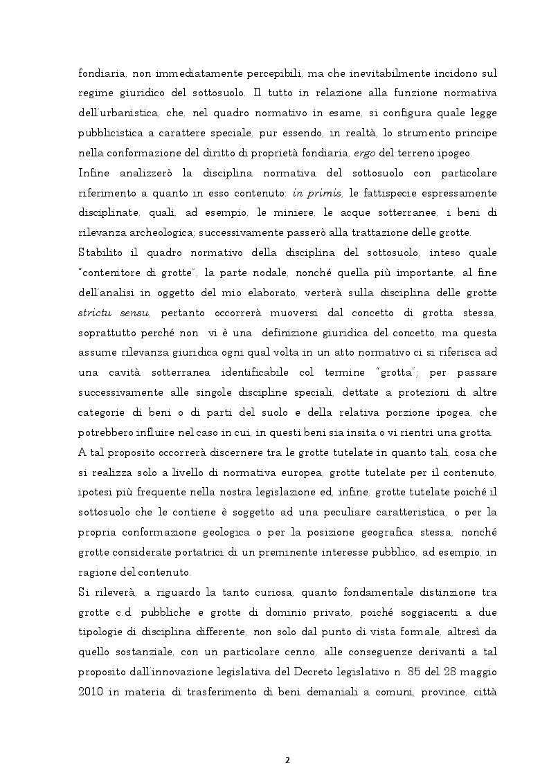 Anteprima della tesi: Il regime giuridico delle grotte, Pagina 3