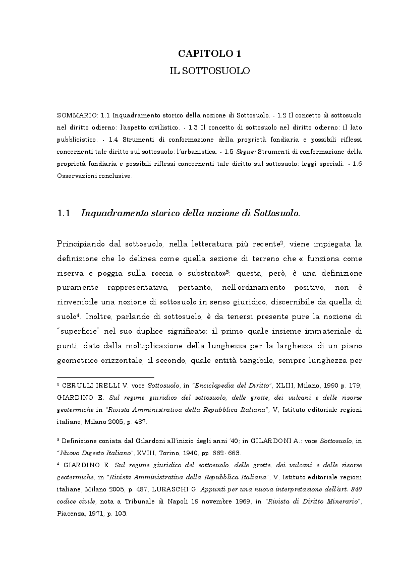 Anteprima della tesi: Il regime giuridico delle grotte, Pagina 6