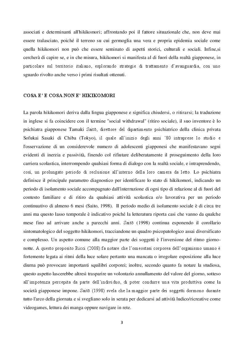Anteprima della tesi: Hikikomori: correlati psicologici e sociali, Pagina 3