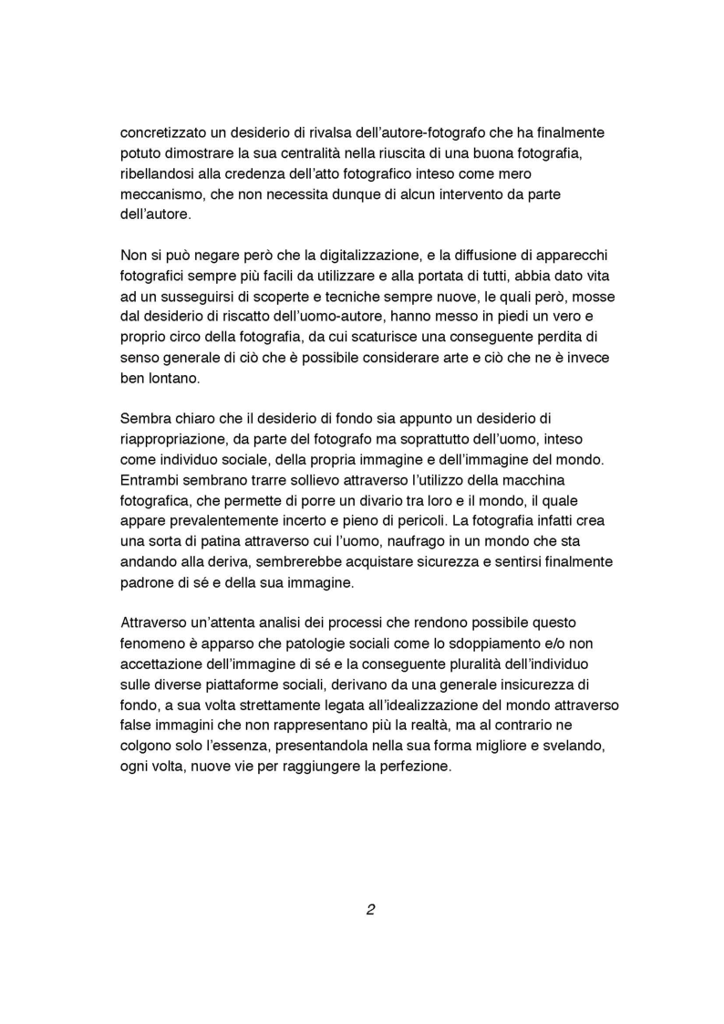 Anteprima della tesi: Indagine sull'inversione di tendenza dell'immagine fotografica da presentazione a rappresentazione del sé, Pagina 3