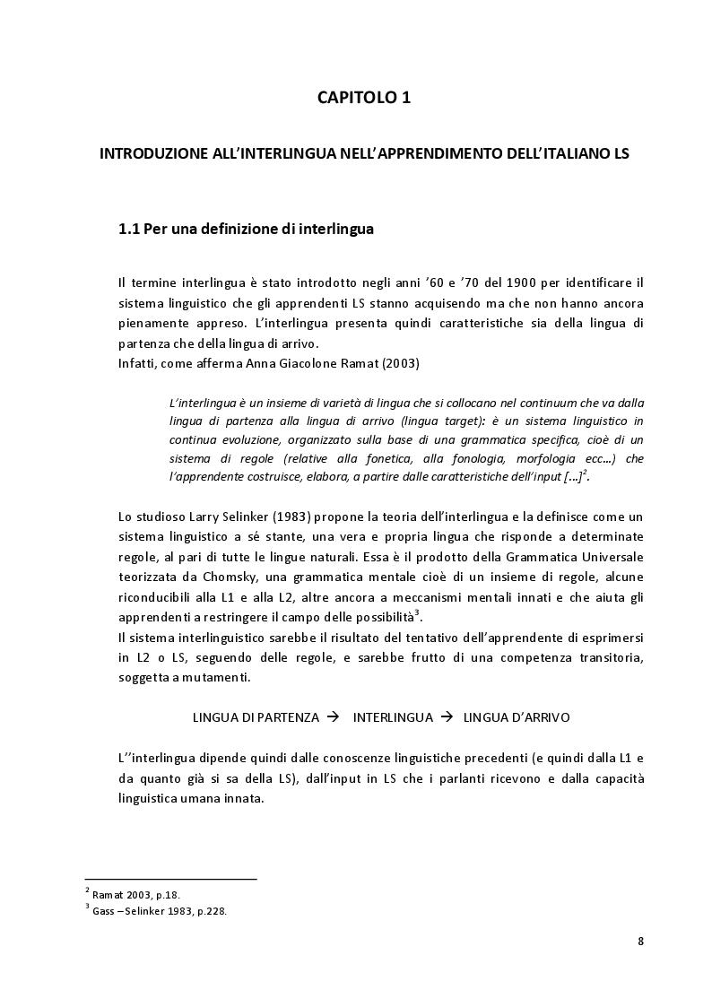 Anteprima della tesi: Aspetti fonetico-fonologici nel parlato di apprendenti francofoni: dalla ricerca alla proposta didattica in italiano LS, Pagina 6