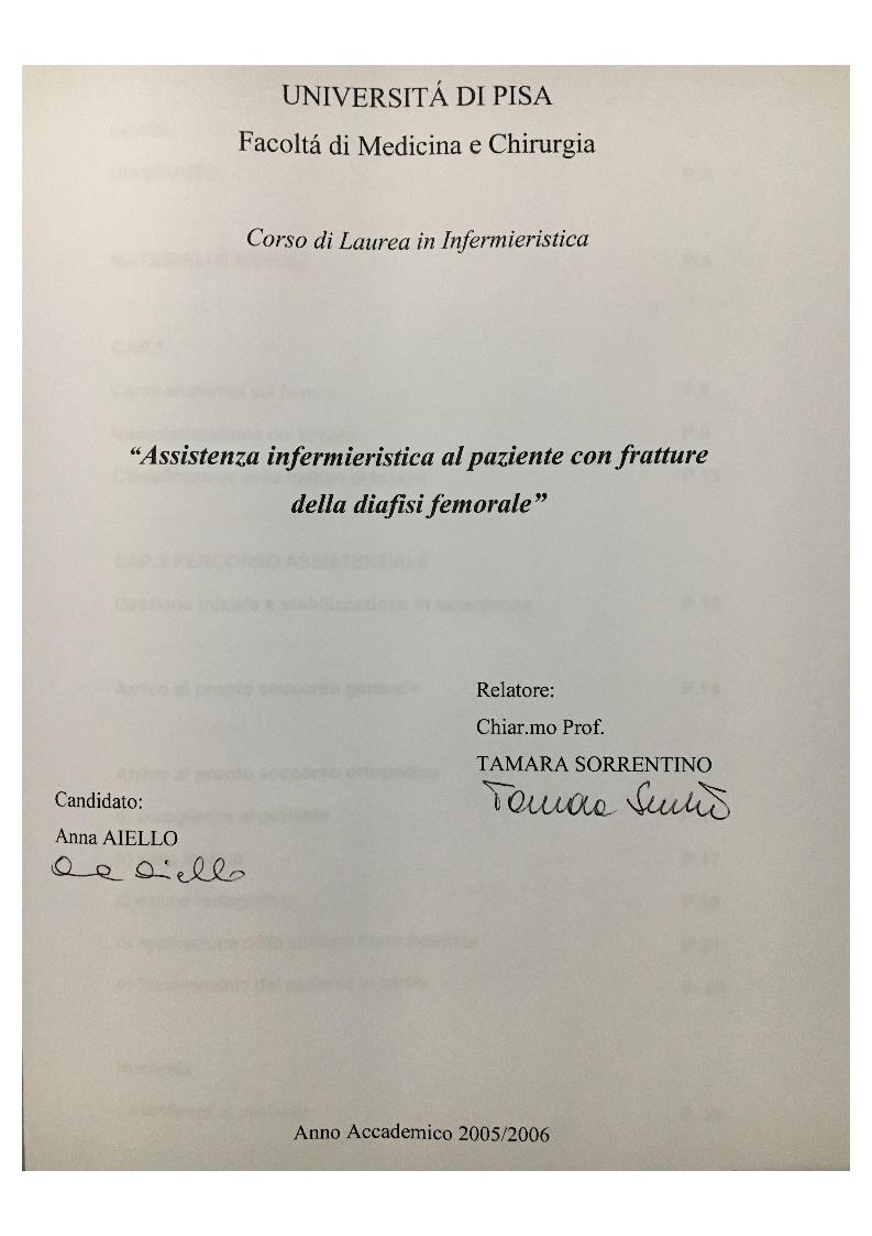 Anteprima della tesi: Assistenza infermieristica al paziente con fratture della diafisi femorale, Pagina 1