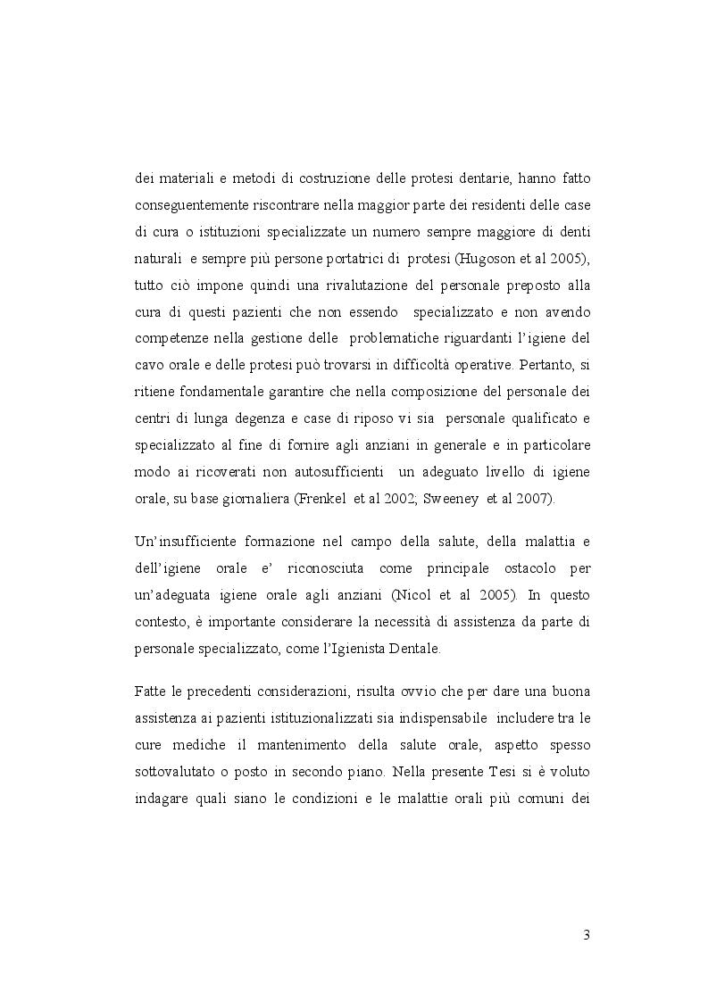 Anteprima della tesi: Igiene orale nel paziente istituzionalizzato: importanza di una unità mobile, Pagina 4