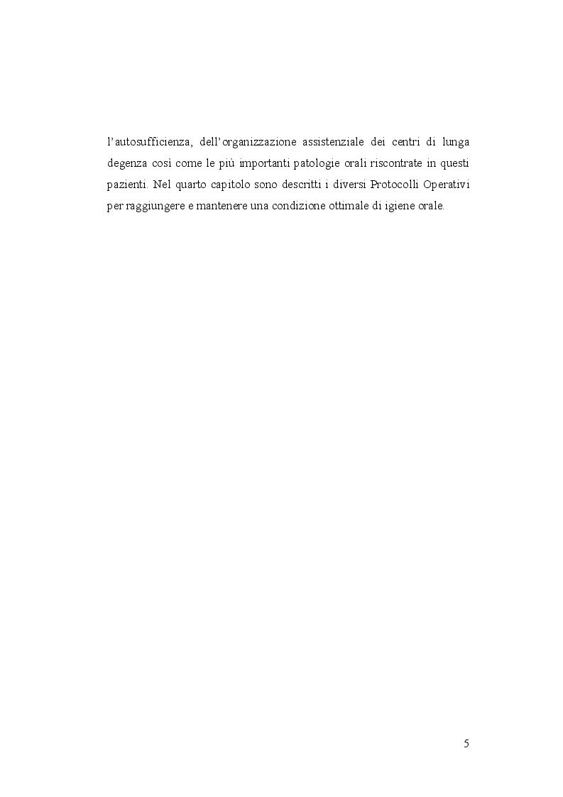 Anteprima della tesi: Igiene orale nel paziente istituzionalizzato: importanza di una unità mobile, Pagina 6
