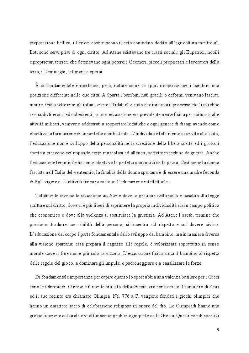 Anteprima della tesi: Media e Sport: l'immagine educativa del mondo del Calcio, Pagina 5