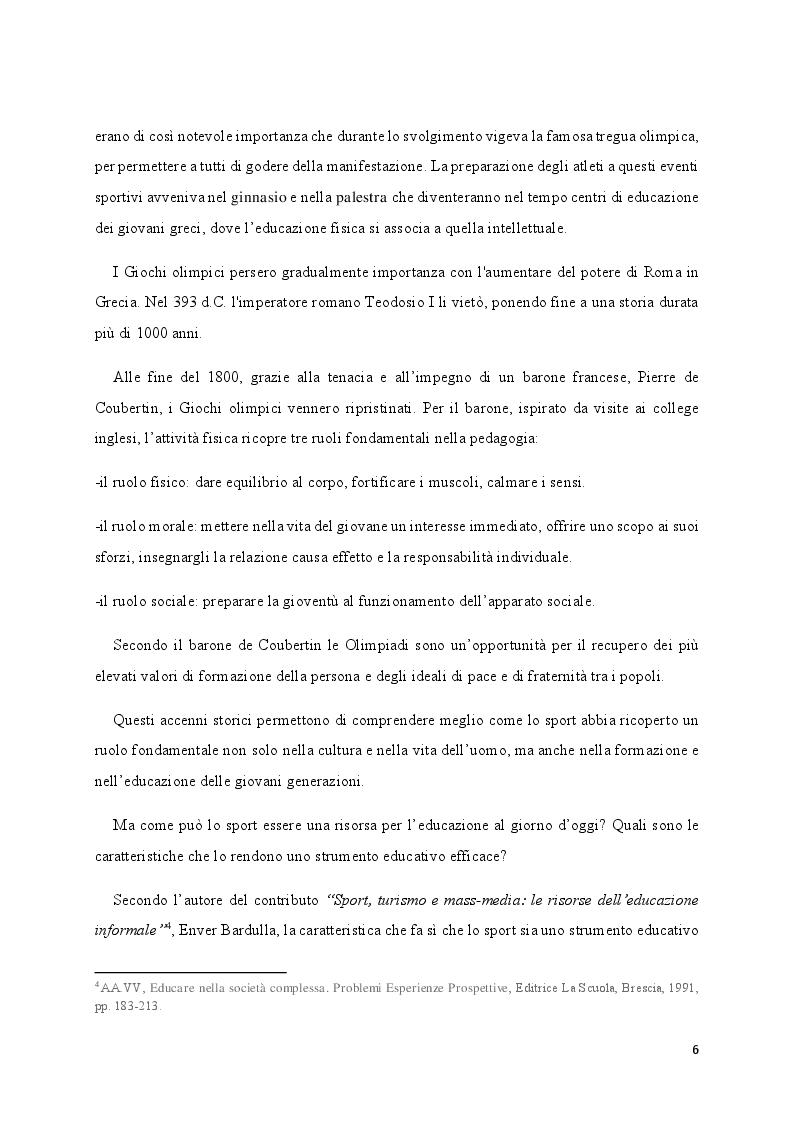 Anteprima della tesi: Media e Sport: l'immagine educativa del mondo del Calcio, Pagina 6