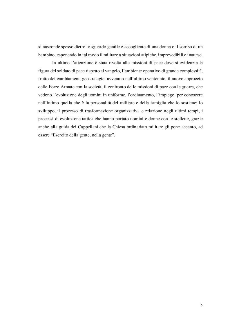 Anteprima della tesi: Missione di Pace, Vangelo di Pace: In divisa per il bene di tutti, Pagina 4