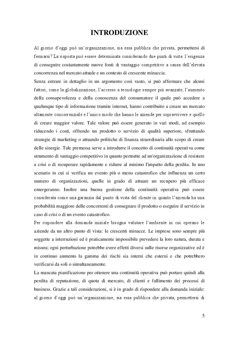 Anteprima della tesi: Sviluppo del Business Continuity Plan nel settore farmaceutico: il caso Haupt Pharma, Pagina 2