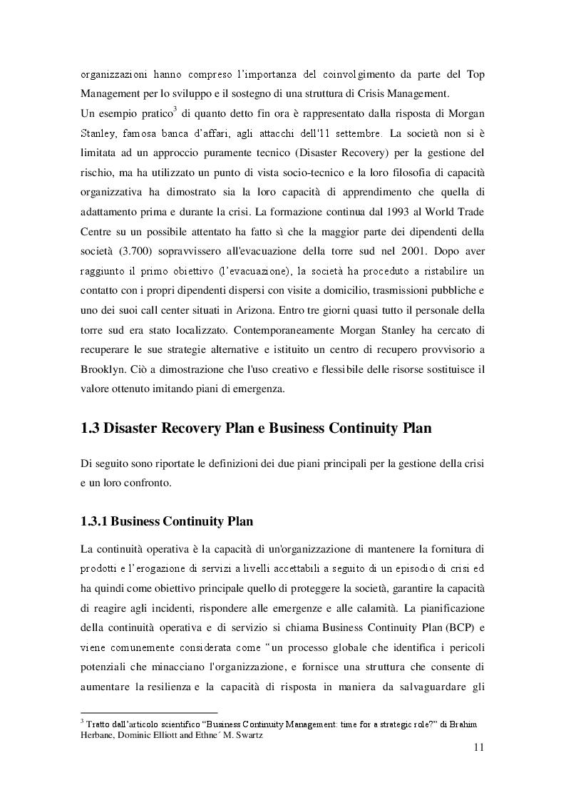 Anteprima della tesi: Sviluppo del Business Continuity Plan nel settore farmaceutico: il caso Haupt Pharma, Pagina 8