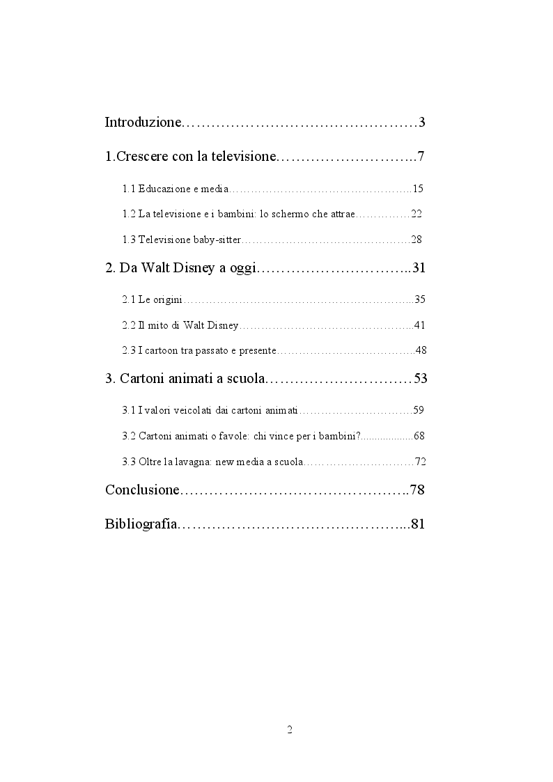 Indice della tesi: Oltre la lavagna: insegnare ed apprendere con il linguaggio video, Pagina 1