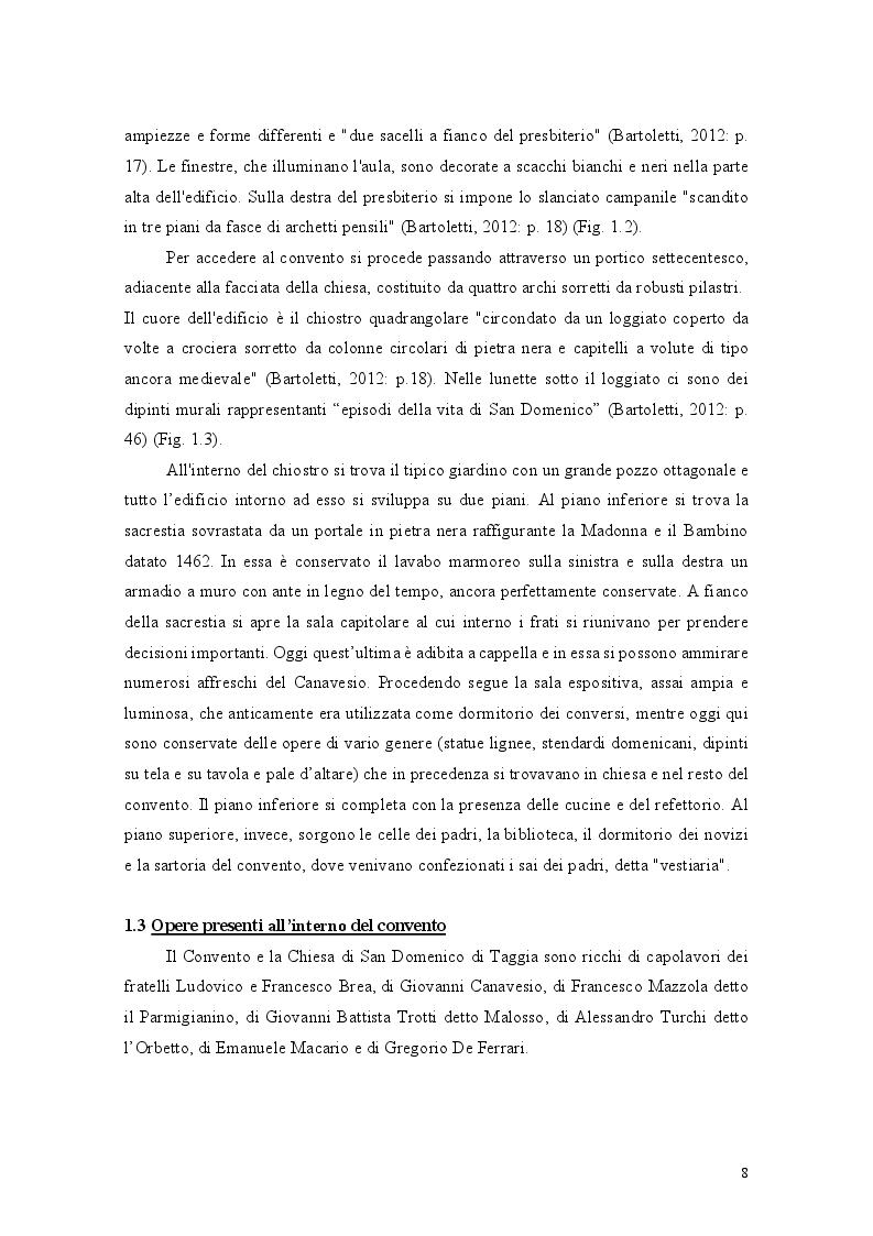 Estratto dalla tesi: Il binomio inscindibile tra il Convento dei Domenicani di Taggia e Ludovico Brea. Considerazioni per la valorizzazione.
