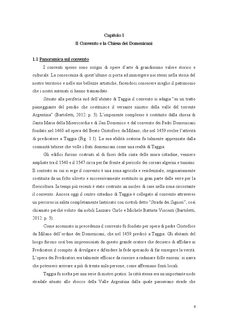 Anteprima della tesi: Il binomio inscindibile tra il Convento dei Domenicani di Taggia e Ludovico Brea. Considerazioni per la valorizzazione., Pagina 4